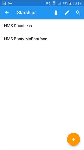 An example of a custom list