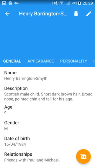 Character profiles are detailed and beautifully laid out